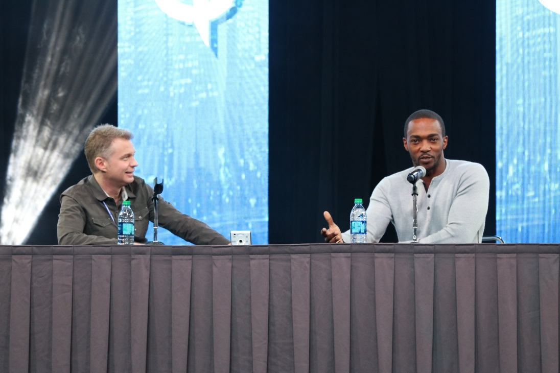 Ryan Chase and Anthony Mackie, Comicpalooza 2017